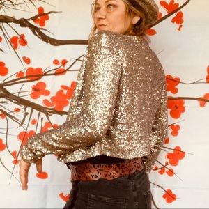 Urban Outfitters Sequin crop jacket M
